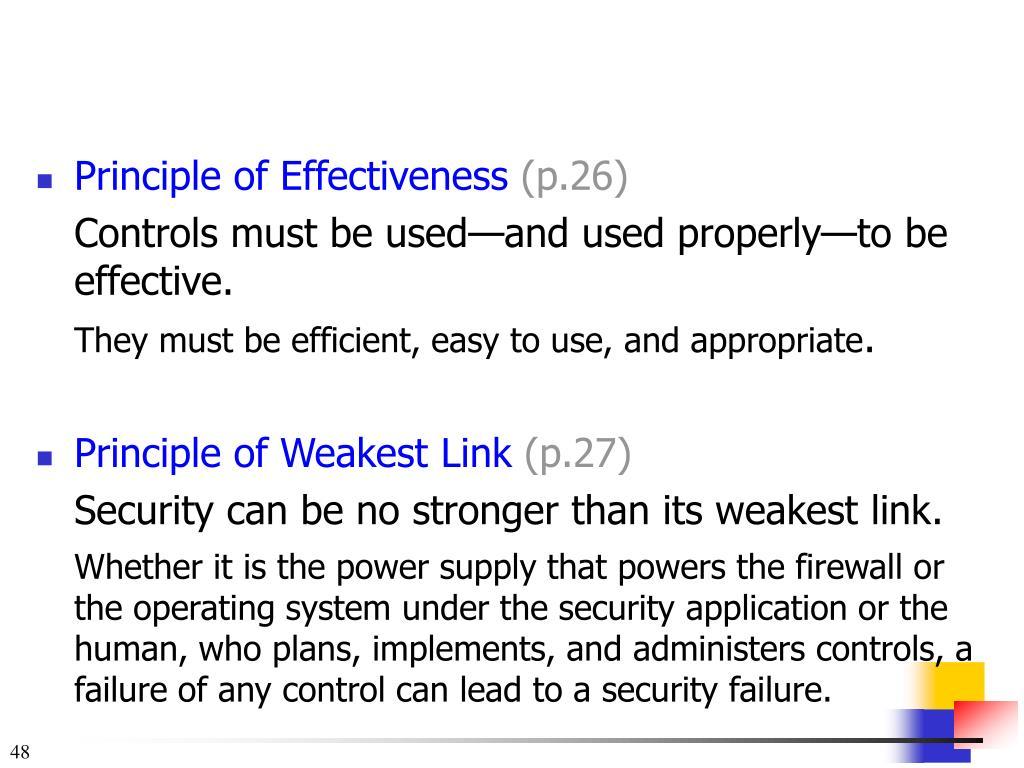 Principle of Effectiveness