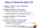 ways of a ttack ing data cia
