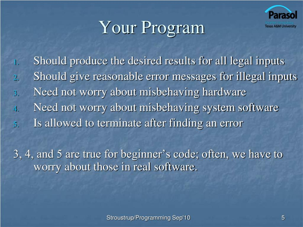 Your Program