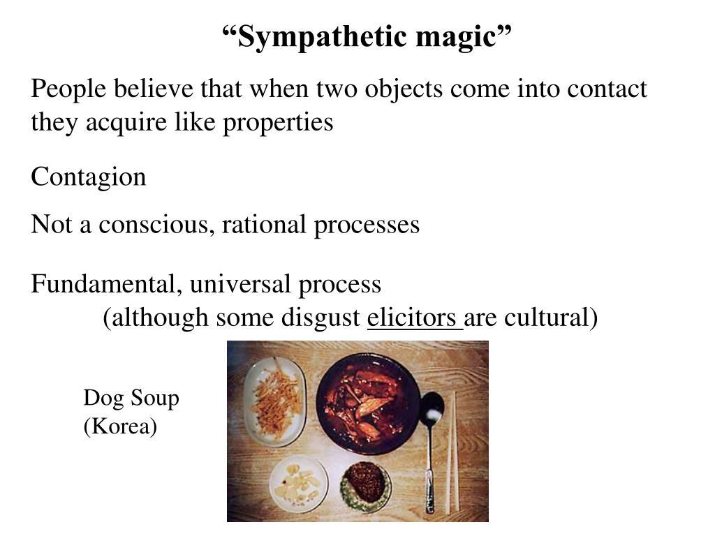 """Sympathetic magic"""