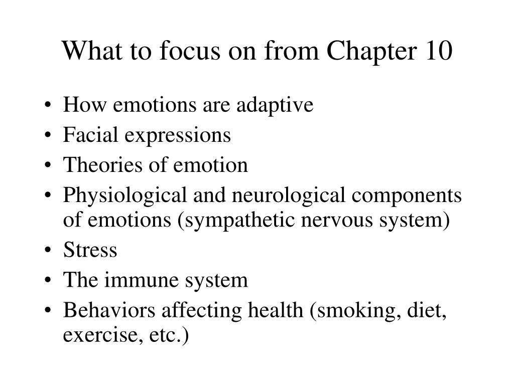 What to focus on from Chapter 10