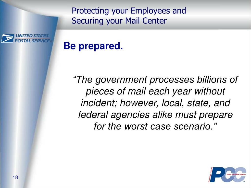 Be prepared.