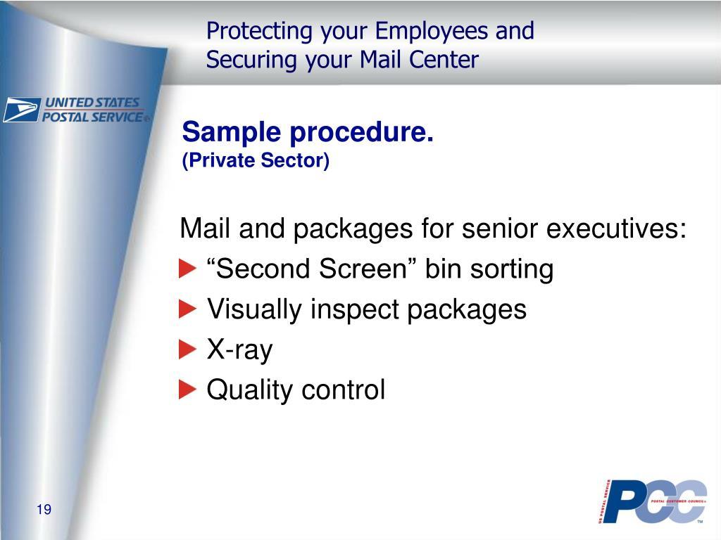 Sample procedure.