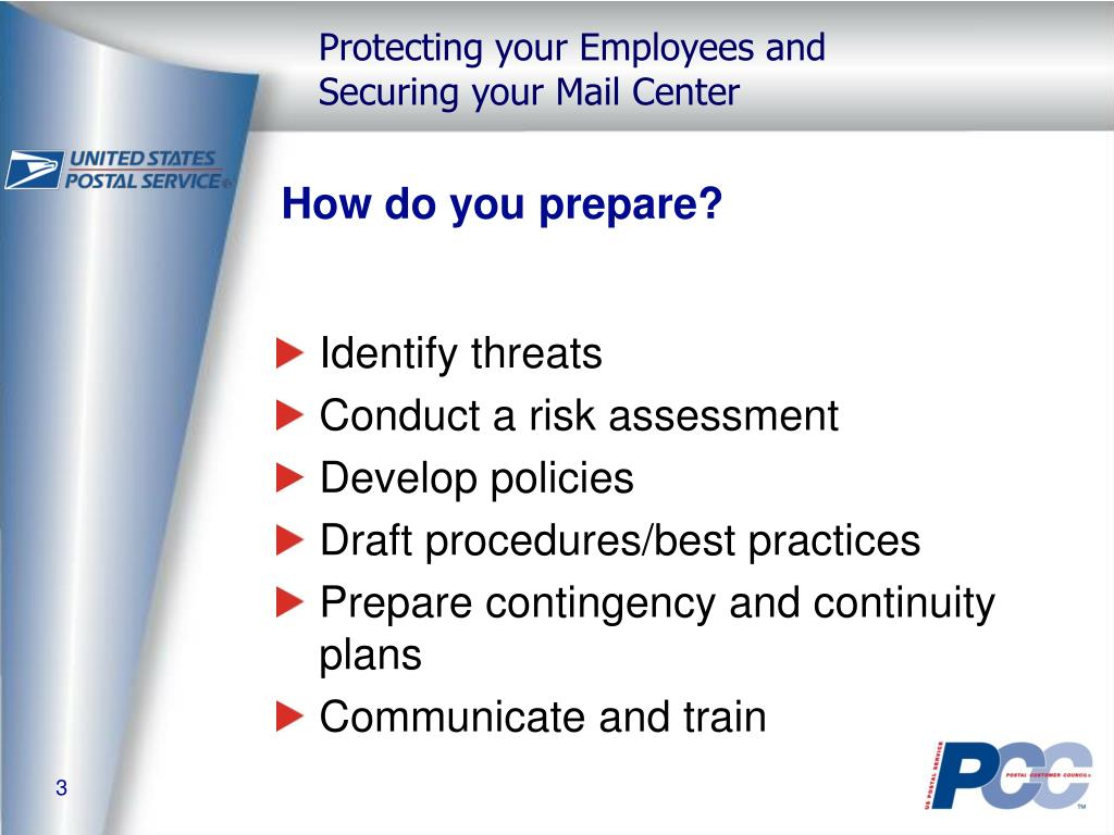 How do you prepare?