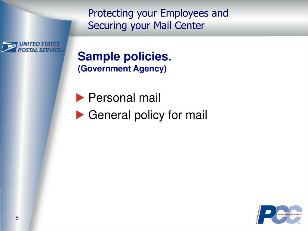 Sample policies.