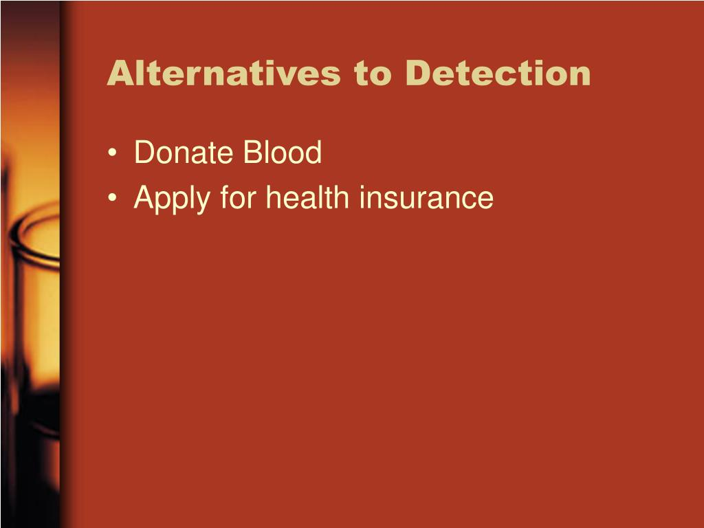 Alternatives to Detection