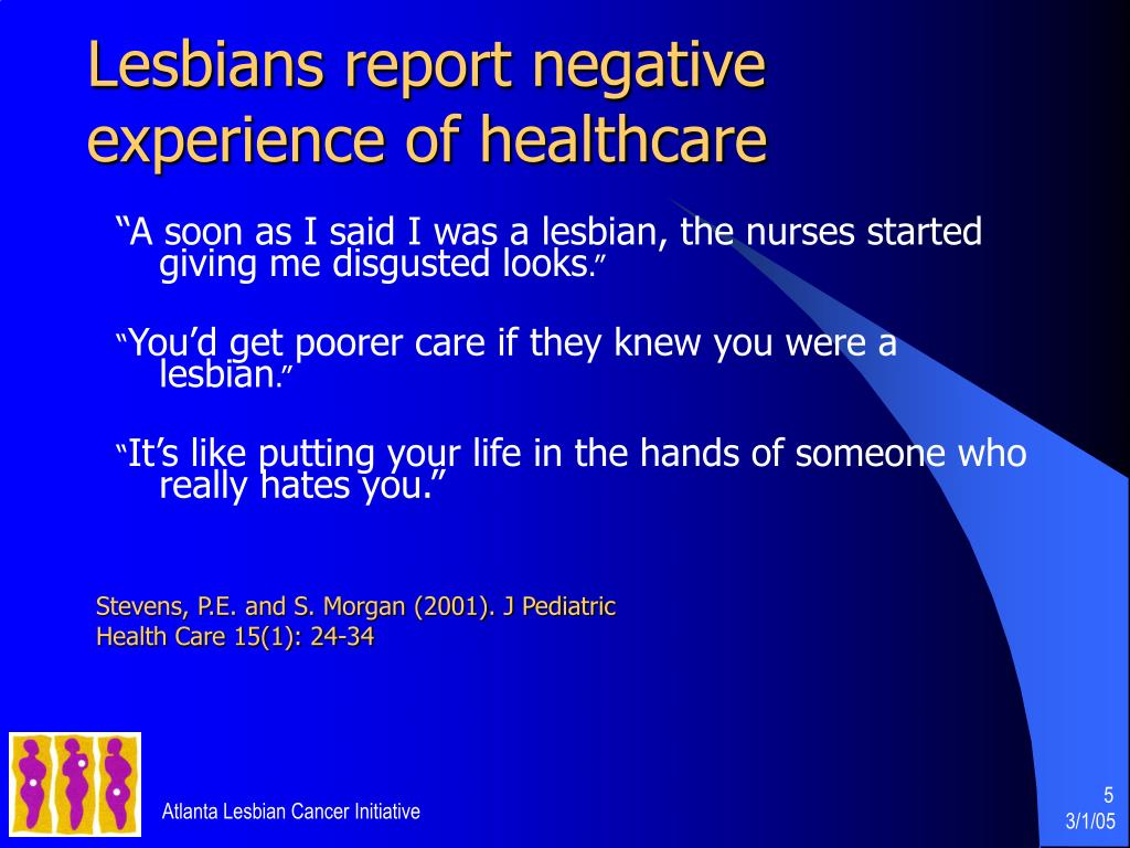 Lesbians report negative experience of healthcare