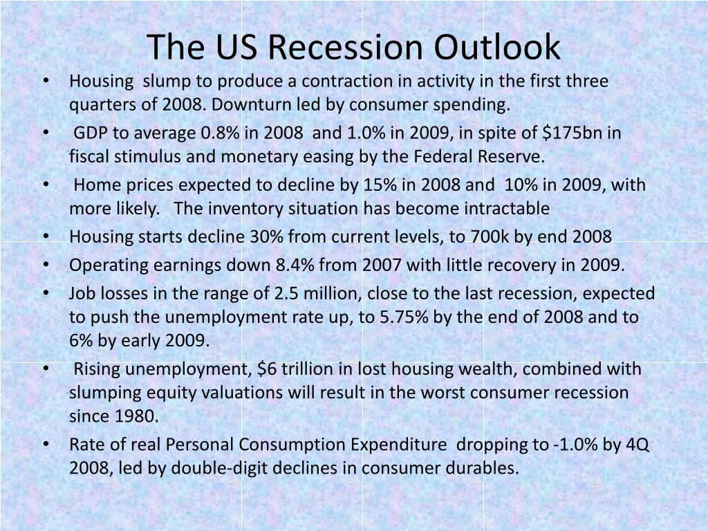 The US Recession Outlook