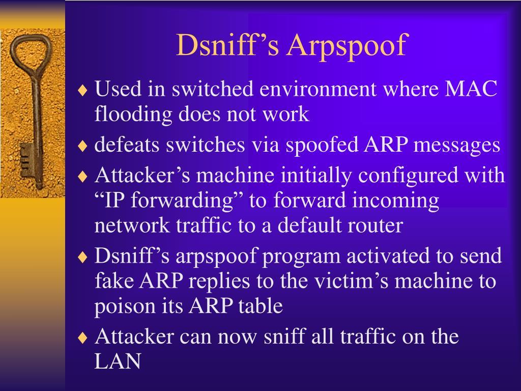 Dsniff's Arpspoof