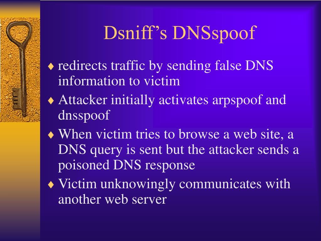 Dsniff's DNSspoof