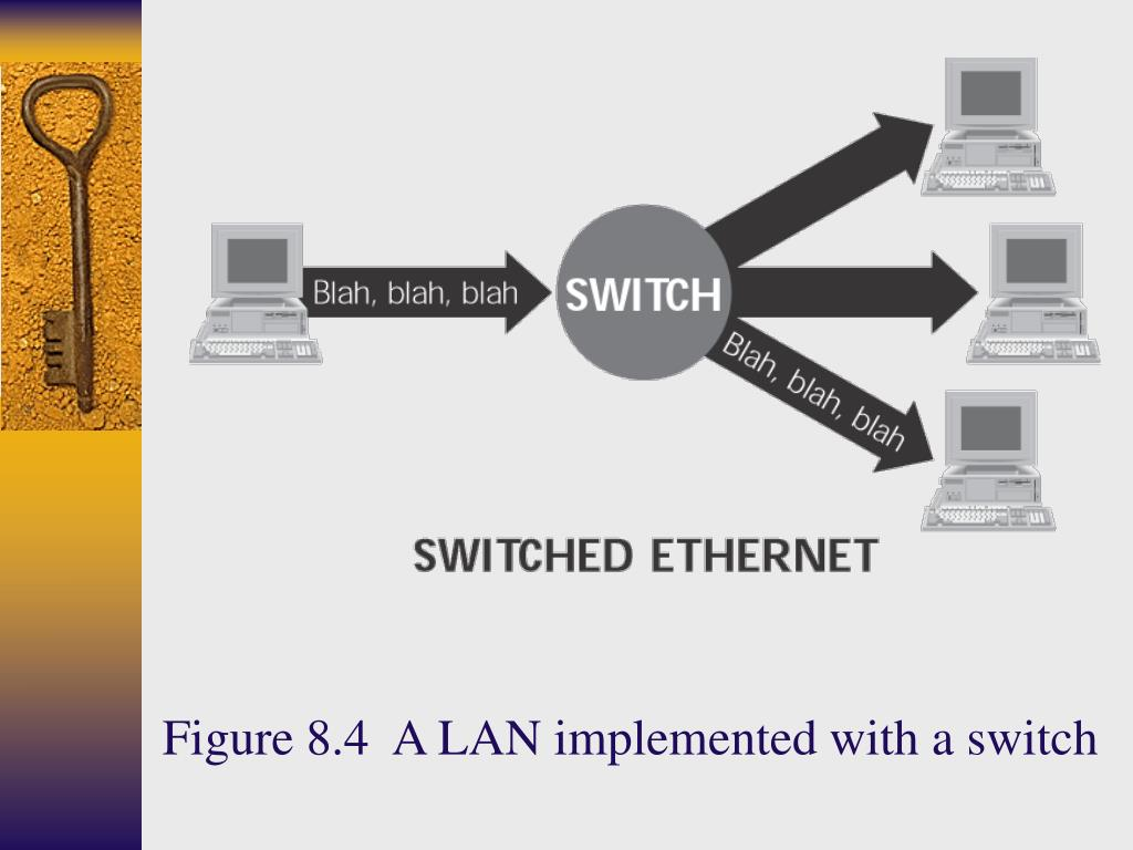 Figure 8.4  A LAN implemented with a switch