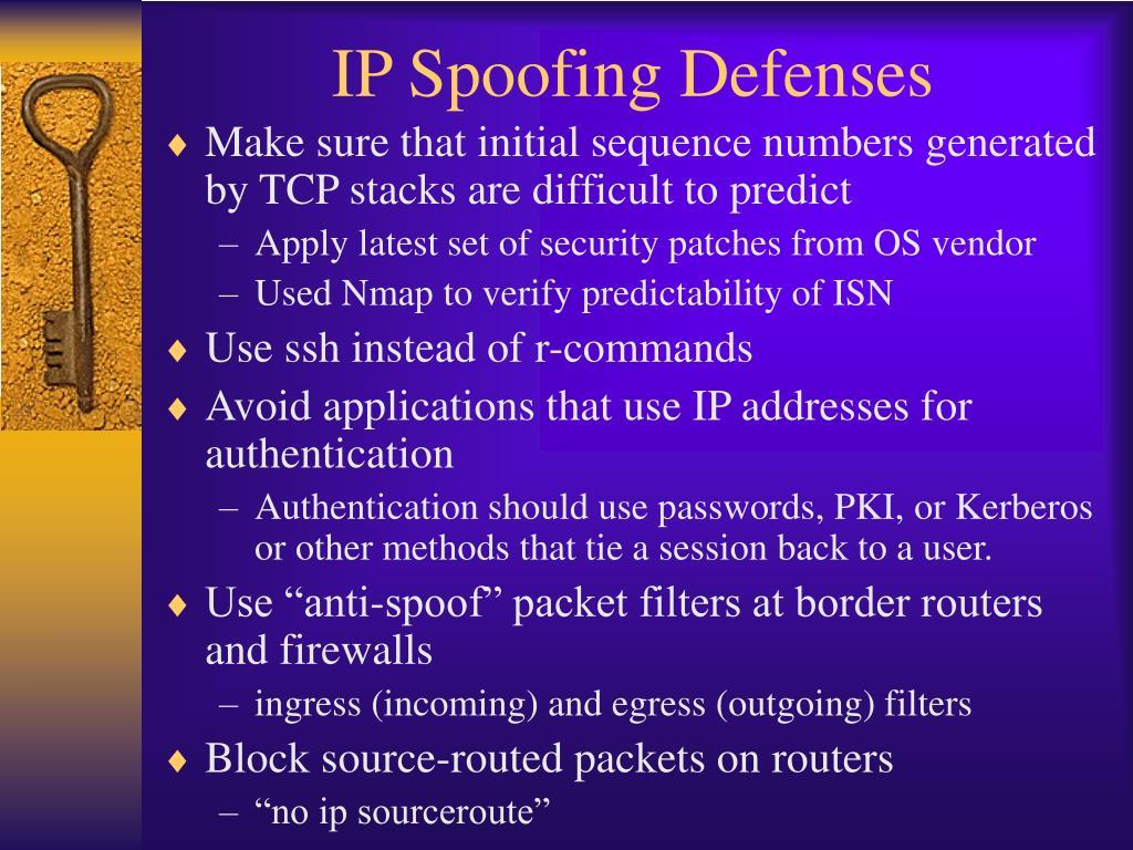 IP Spoofing Defenses