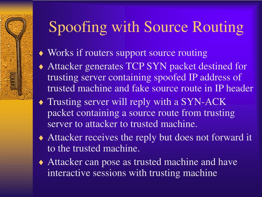 Spoofing with Source Routing