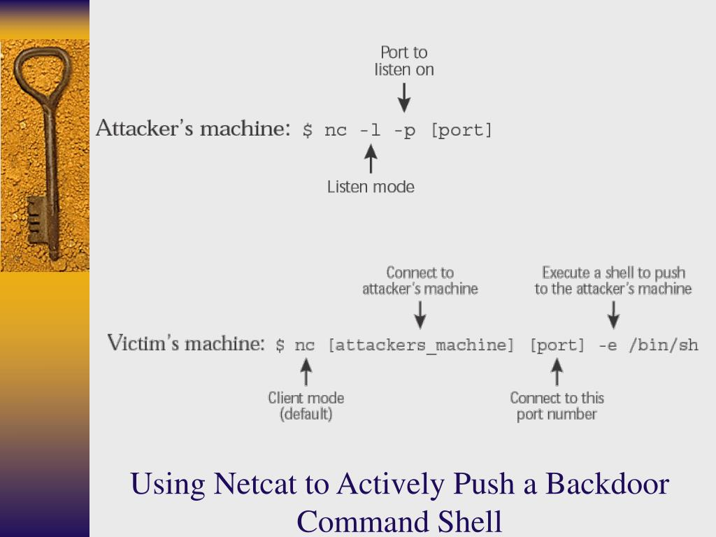 Using Netcat to Actively Push a Backdoor Command Shell