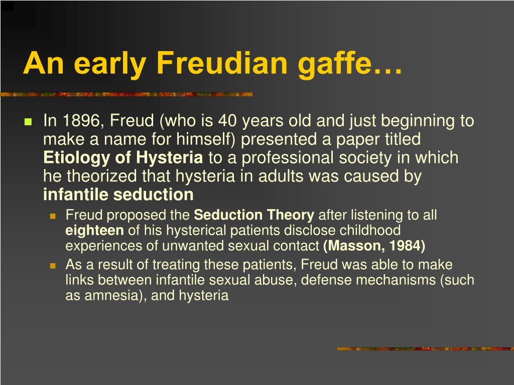 An early Freudian gaffe…