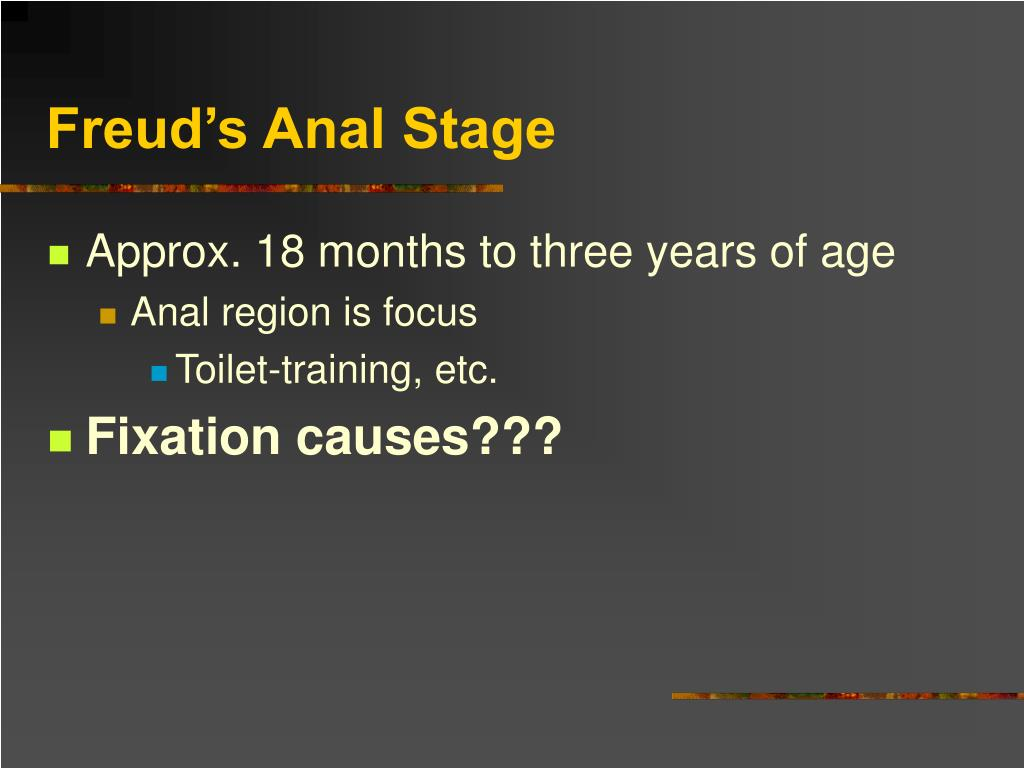 Freud's Anal Stage