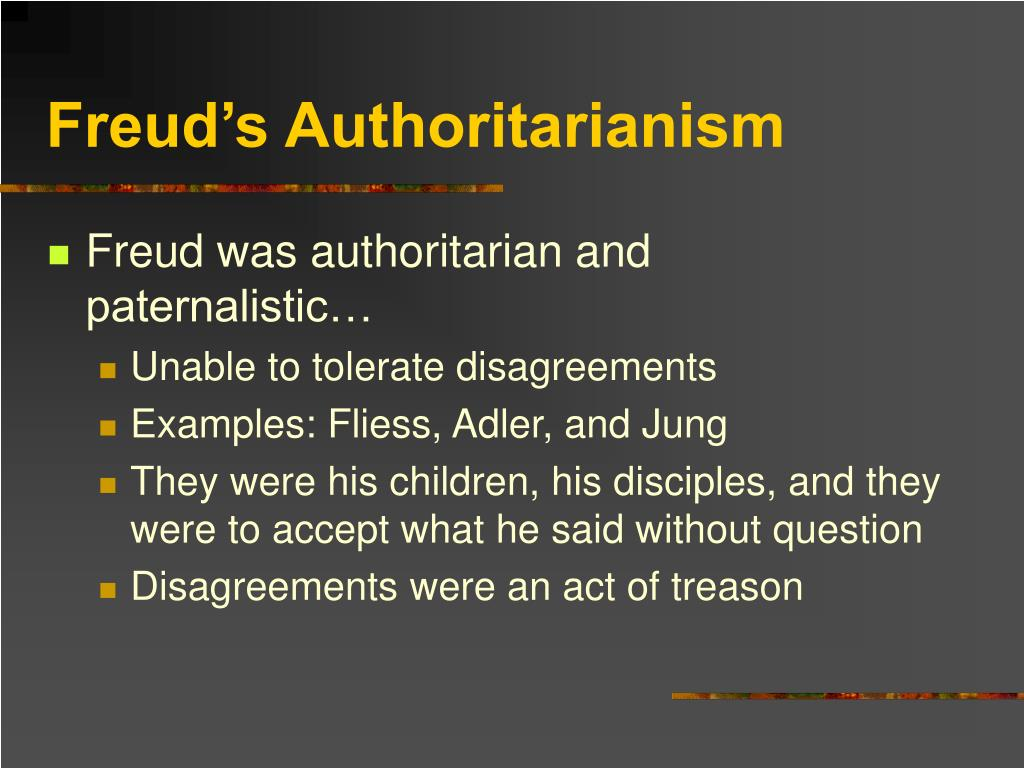 Freud's Authoritarianism