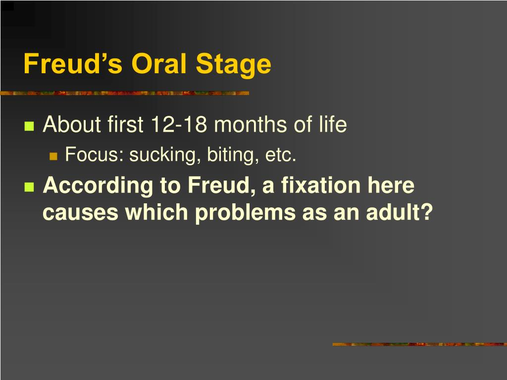 Freud's Oral Stage