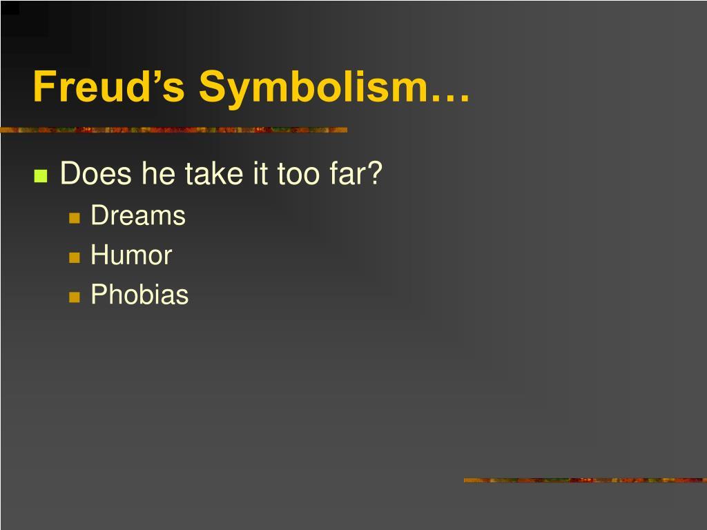 Freud's Symbolism…
