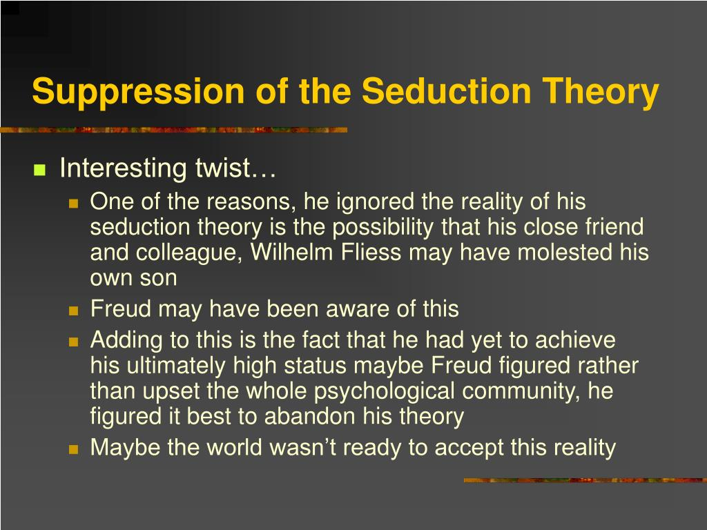 Suppression of the Seduction Theory