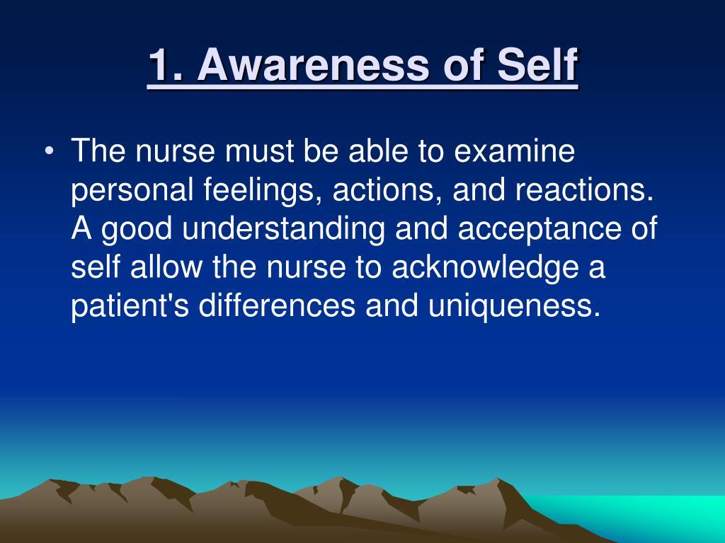 1. Awareness of Self