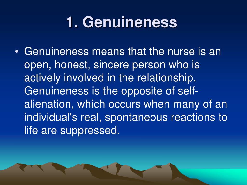 1. Genuineness