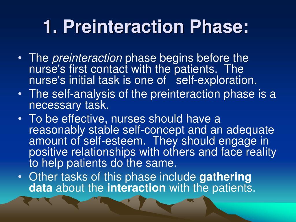 1. Preinteraction Phase: