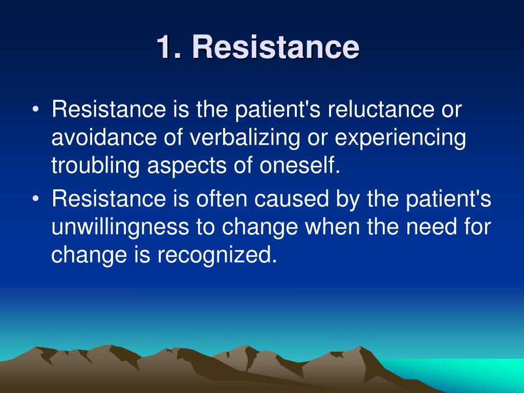 1. Resistance