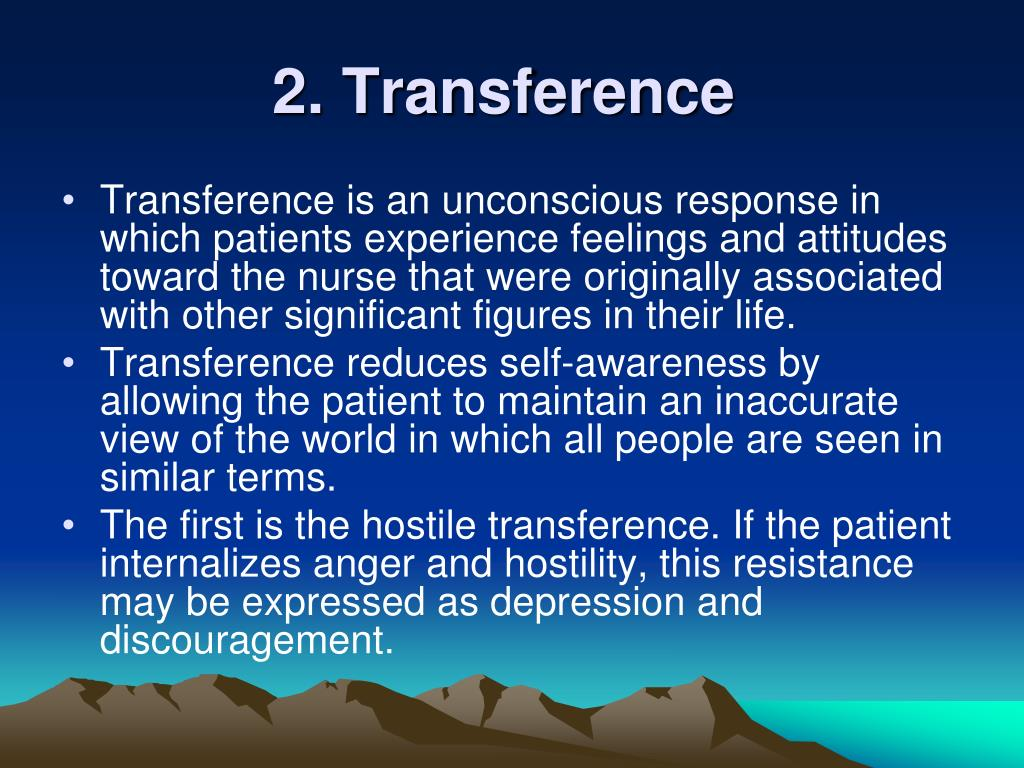 2. Transference