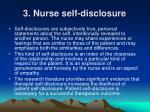 3 nurse self disclosure
