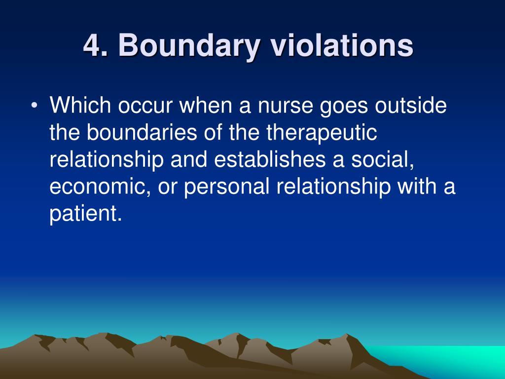 4. Boundary violations
