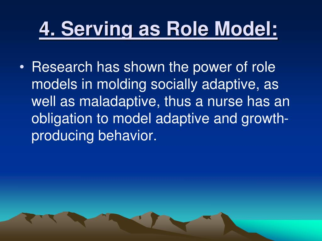 4. Serving as Role Model: