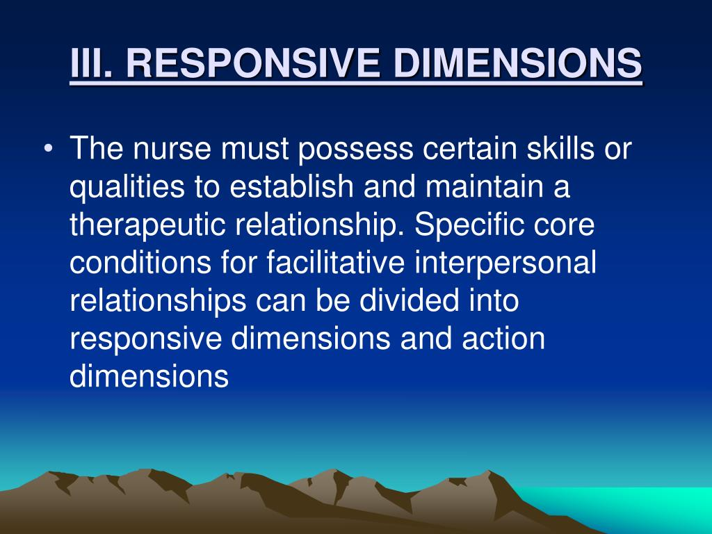III. RESPONSIVE DIMENSIONS