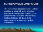 iii responsive dimensions