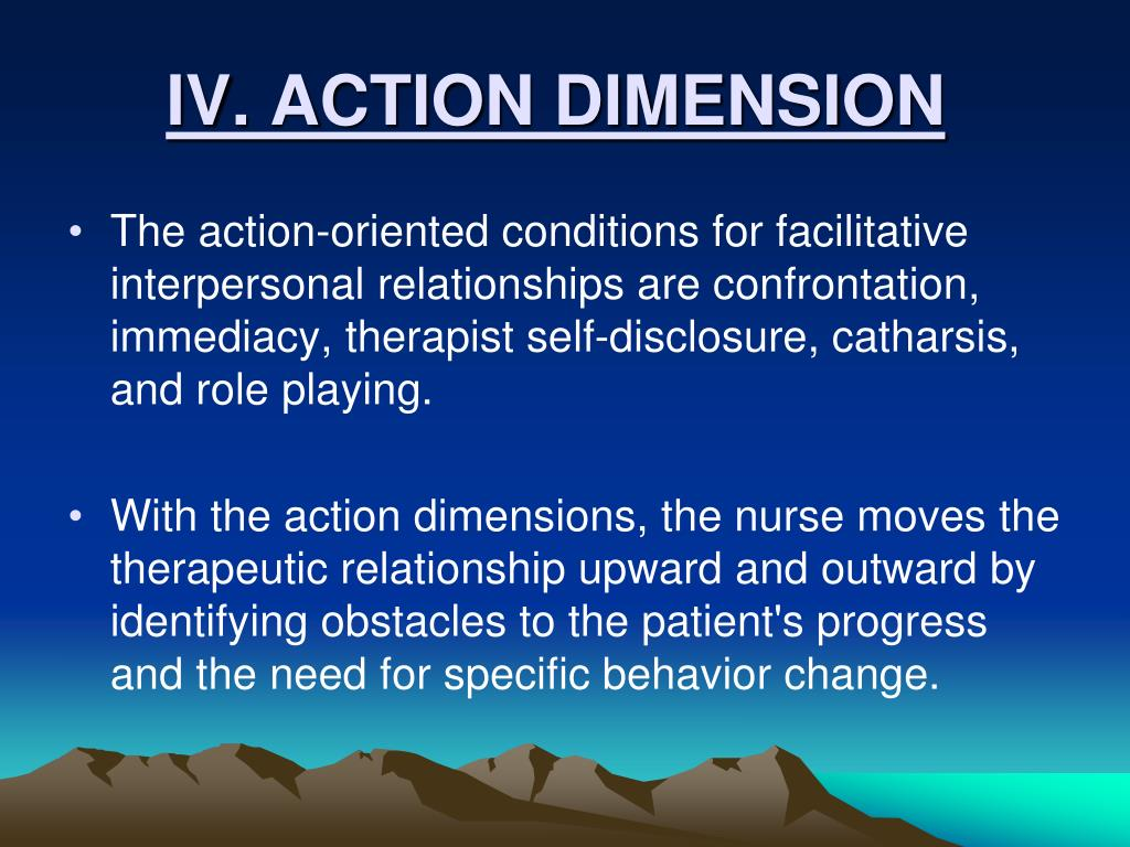 IV. ACTION DIMENSION