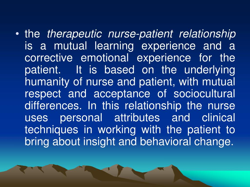 nurse and patient relationship ppt