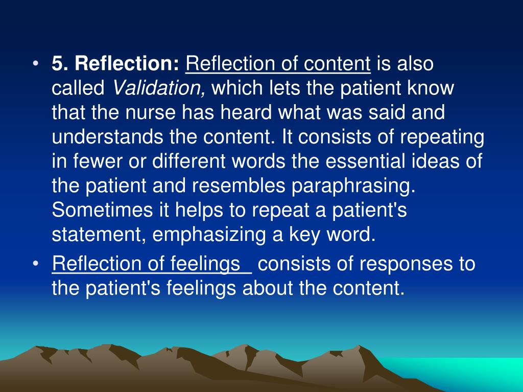 5. Reflection: