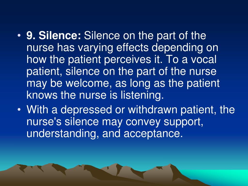 9. Silence: