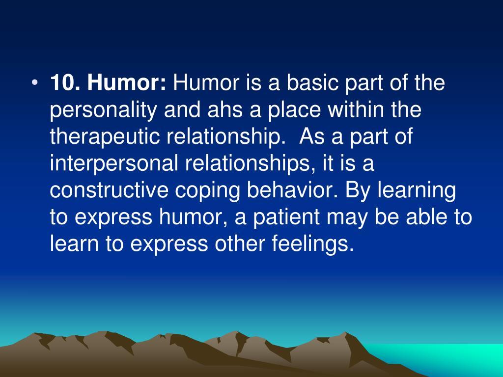 10. Humor: