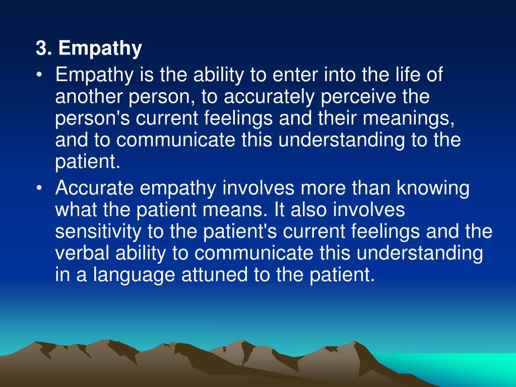 3. Empathy