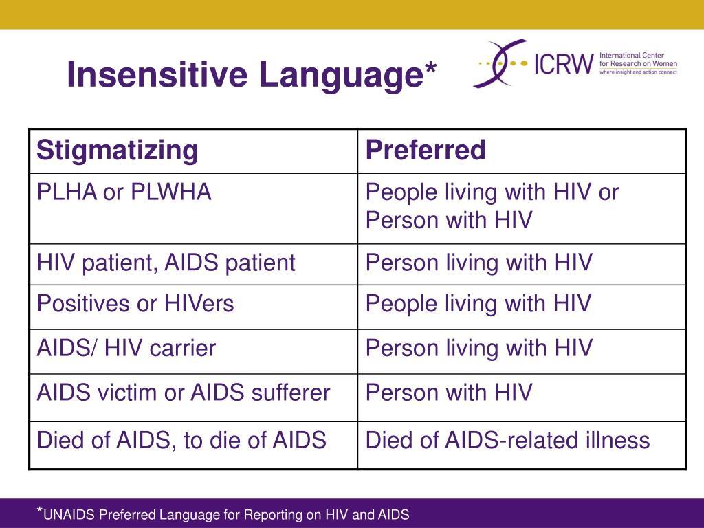 Insensitive Language*
