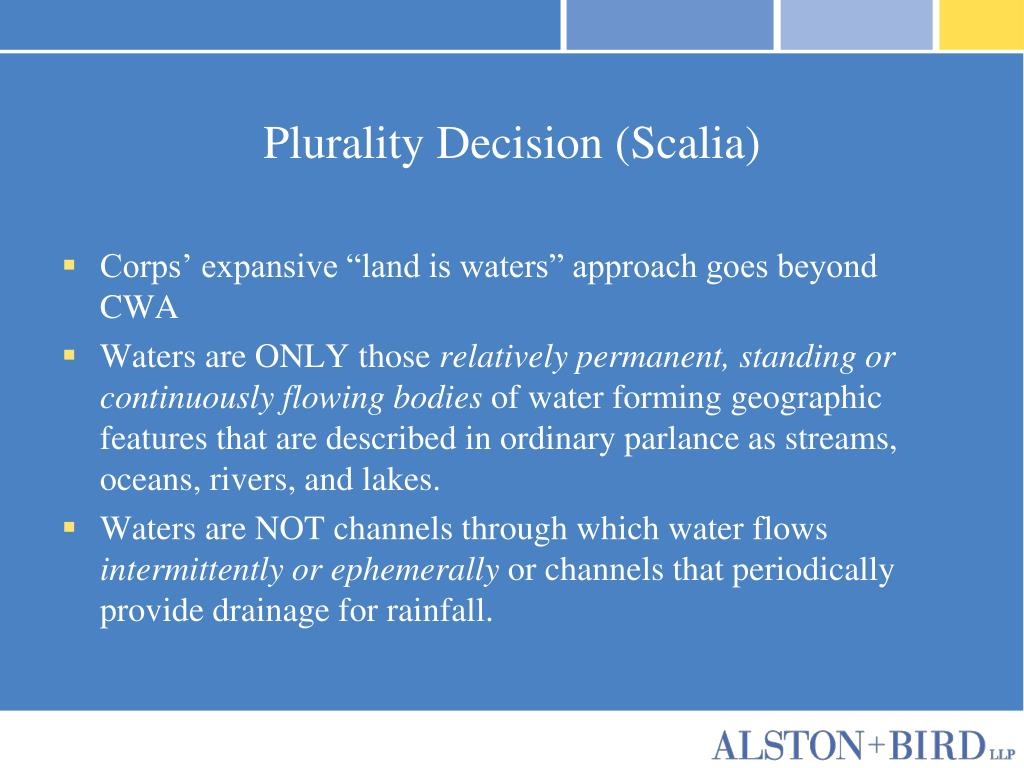 Plurality Decision (Scalia)