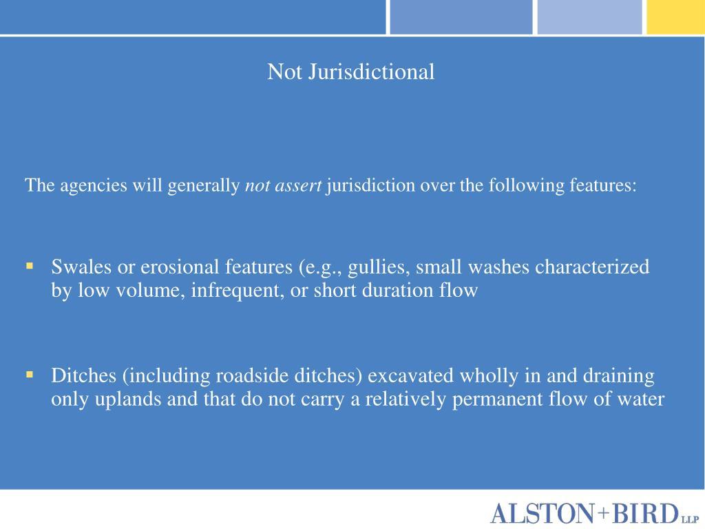 Not Jurisdictional