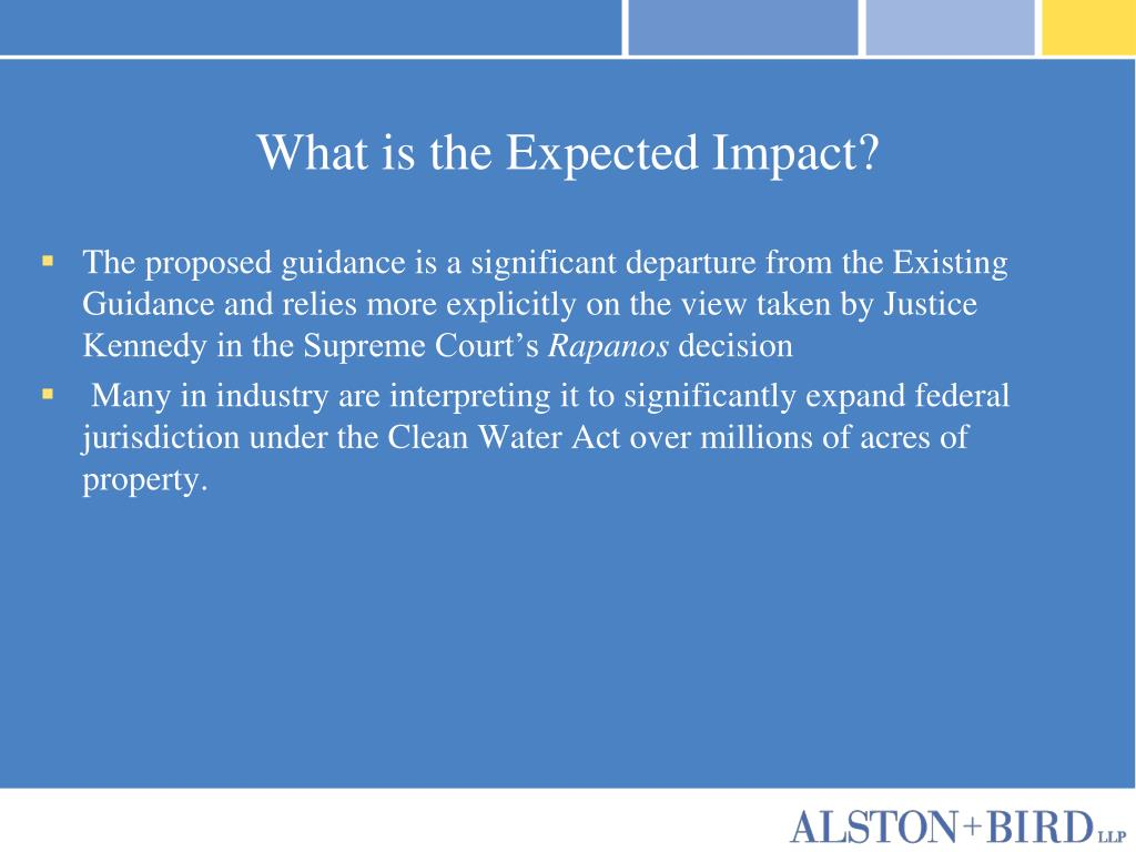 What is the Expected Impact?
