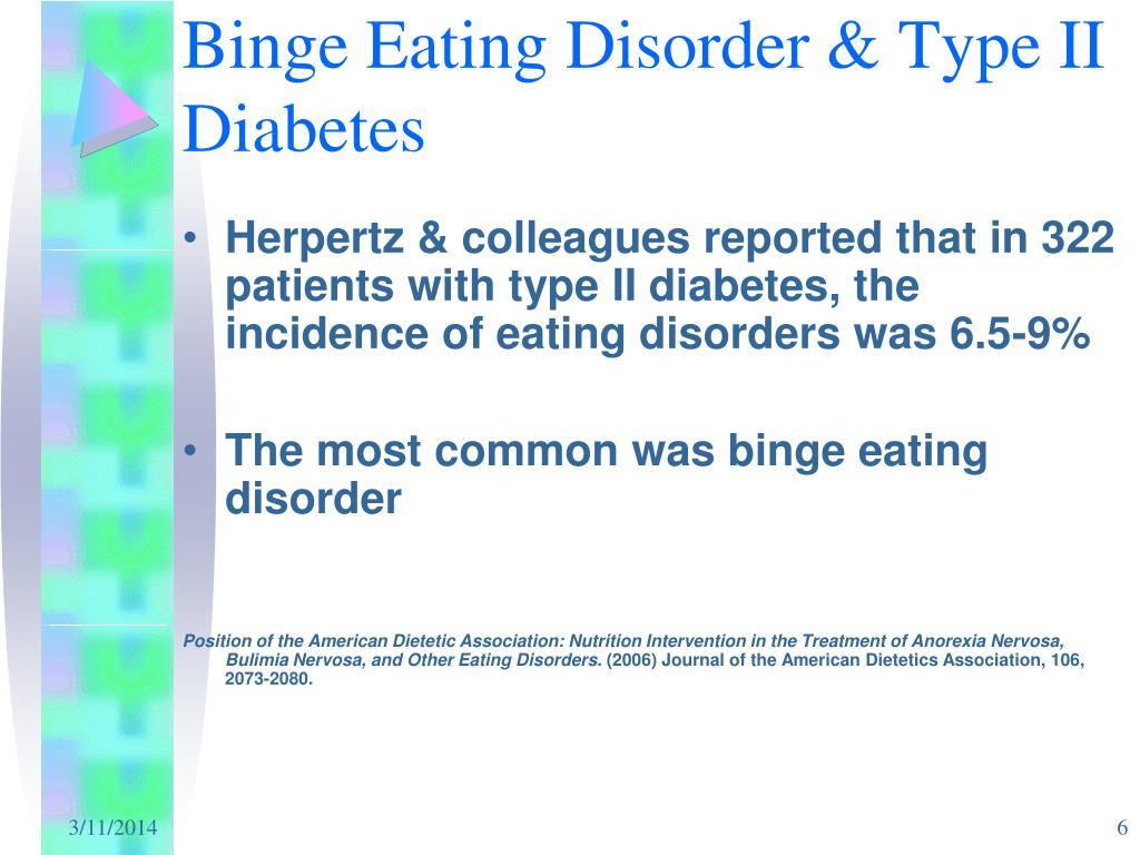 Binge Eating Disorder & Type II Diabetes