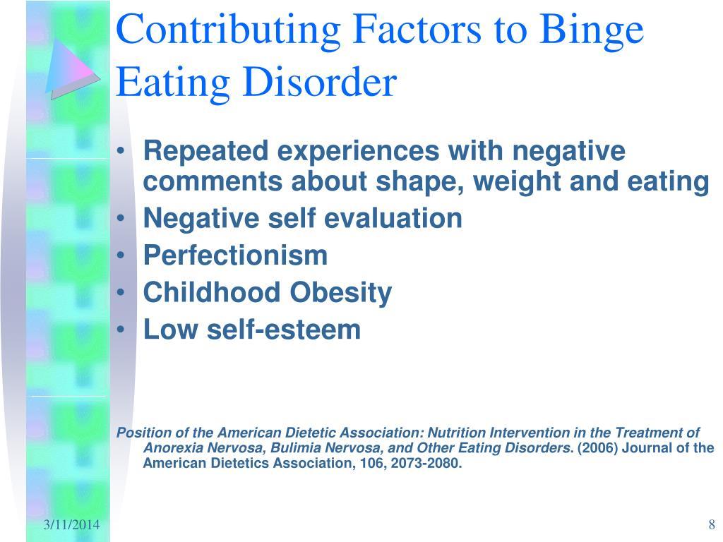 Contributing Factors to Binge Eating Disorder