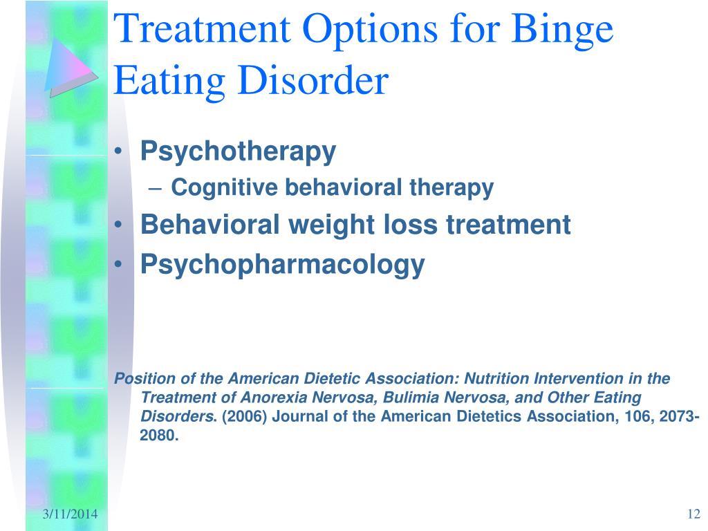 Treatment Options for Binge Eating Disorder