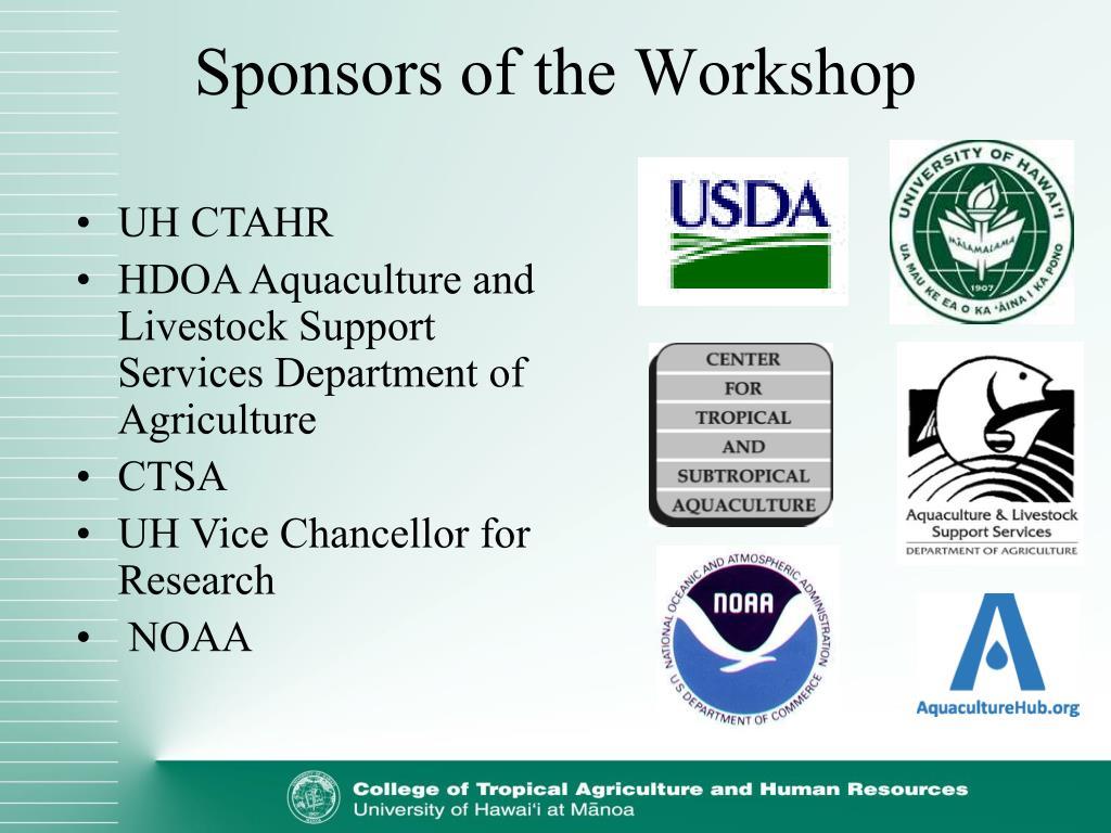 Sponsors of the Workshop