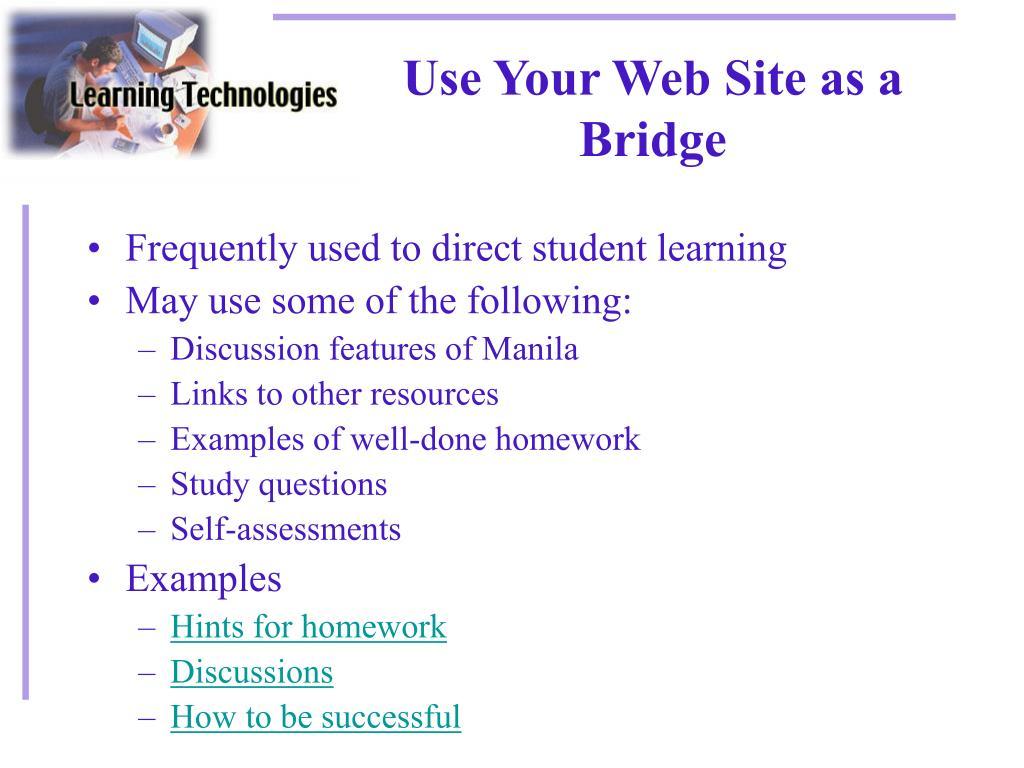 Use Your Web Site as a Bridge