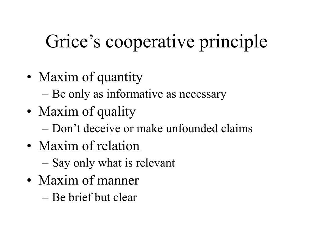 Grice's cooperative principle